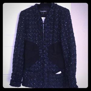 Chanel Fantasy Tweed Jacket in navy/black/silver
